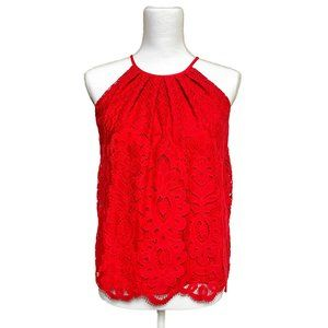 BLUE RAIN Red Lace Top from FRANCESCA'S NWT XS